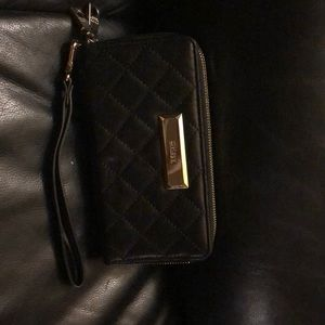DKNY double zip wallet with wrist strap